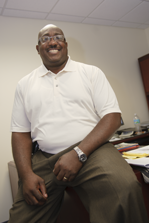 Physical Facilities Associate Director Wallace Harris takes a break from his duties to help us get to know him better.