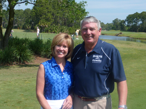 The Lindley's during a recent golf outing.