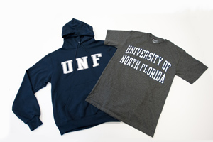 Different pieces of UNF apparel are now available at three local Target stores (Photo by Dennis Ho).