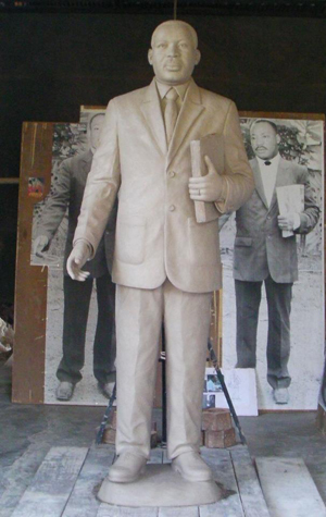 A look at the MLK statute before it was bronzed.