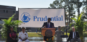 Prudential sponosred the MVRC's Veterans Day celebration last year, which featured Jacksonville Mayor Alvin Brown.