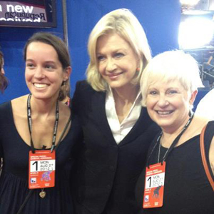 UNF student Dargan Thompson, Diane Sawyer and UNF professor Paula Horvath-Neimeyer (Photo by Dargan Thompson).