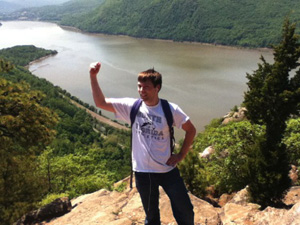 Alex Wegznek's internship at IBM in Poughkeepsie allowed him enough free time to see some nearby sights (Photo by Alex Wegznek).