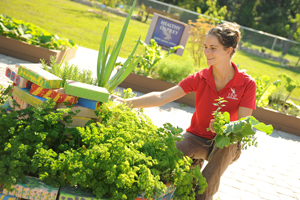 Carmen Franz at work in the garden