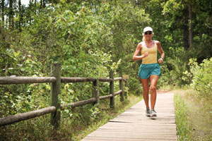 Costa is a fixture on the UNF Nature Trails - she uses them as ultramarathon training routes