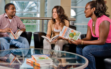 A group of UNF freshmen discuss Levitt's new book.