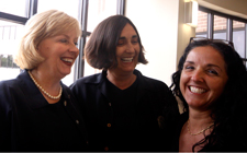 Drs. Pam Chally (from left), Carol Ledbetter and Li Loriz enjoy a light moment in the Brooks College of Health Building.