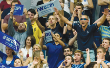 Osprey fans 'swoop it up' at a UNF basketball game.