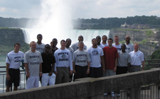 The UNF men's baksetball team visited Niagra Falls and Toronto during the Canada trip.