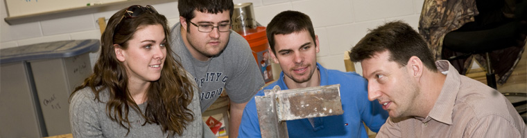 Engineering Professor Demonstrates Project to Students