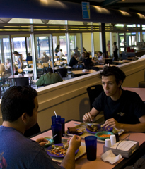 Students eating in the Osprey Cafe