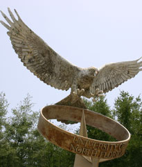 Fountain osprey sculpture