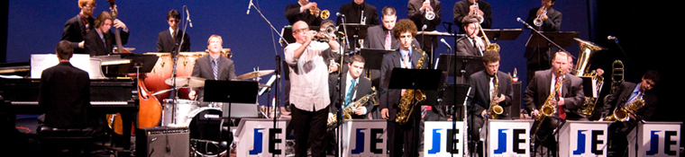 Jazz students perform concert on stage