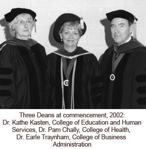 Three Deans at commencement