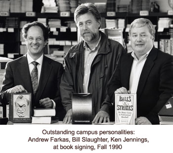 Farkas, Salughter and Jennings at book signing