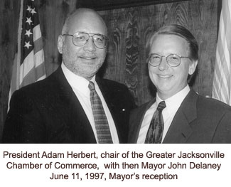 Presdient Herbert and Mayor John Delaney