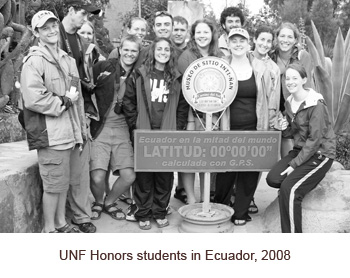 UNF Honors students in Ecuador