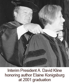 Interim President Kline at 2001 graduation