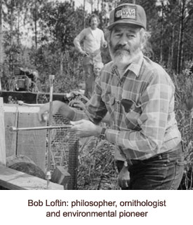 Bob Loftin working outside