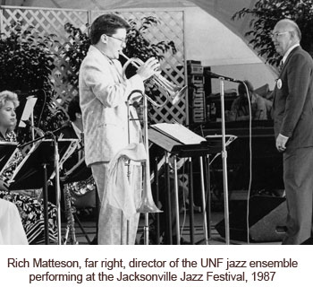 Rich Matteson playing with jazz ensemble