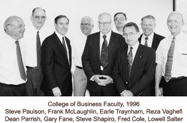 Group photo of the College of Business faculty