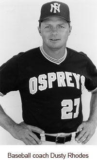 Baseball coach Dusty Rhodes