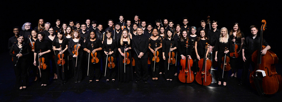 Group shot of the UNF Orchestra