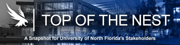 "Graphic with the wording:""Top of the nest: a snapshot for UNF's stakeholder"""