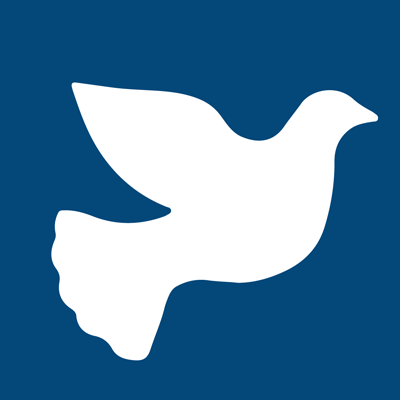 civil discourse logo - an animated dove