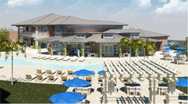 A rendering of the proposed Clubhouse.