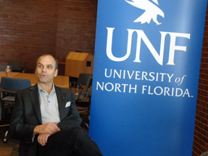Scott Turow during an interview before his UNF lecture.