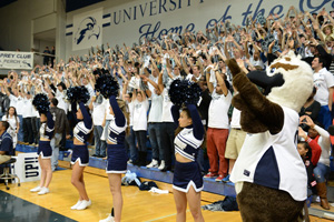 The student section was packed with supporters rooting the Ospreys on to victory (Photos by Jennifer Grissom).