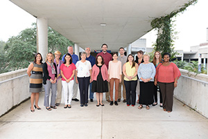 A photo of the Counseling Center staff (photo by Jennifer Grissom)
