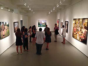 Students from Scott Brown's art class take a walk through MOCA Jacksonville (photo by Denise Reagan)