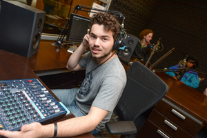 DJ Skye Kade on the air (Photos by Jennifer Grissom).
