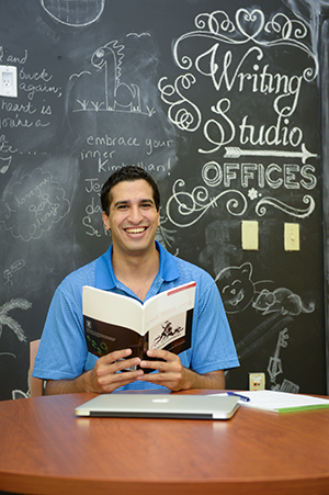 Matias Ellera said his English language skills have increase greatly since he started working with the Writing Center