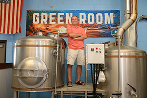 Dr. Michael Lentz in the Green Room brewing facility (Photos by Jennifer Grissom).