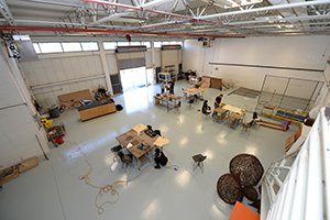 An overview of the new sculpture studio