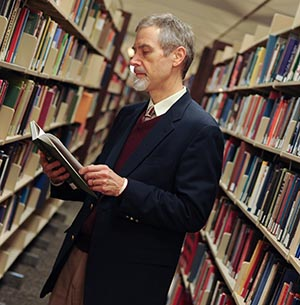 Dr. David Courtwright in the Library
