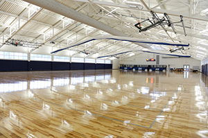 The courts inside the Field House are freshly installed and ready for some basketball