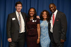 JeffriAnne Wilder (second from left) hosted an event for UNF's new Institute