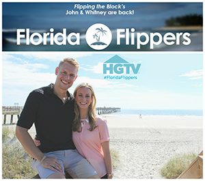 An ad for the new show featuring John and Whitney Spinks, courtesy of HGTV
