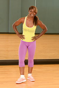 Cheri Harris in gym