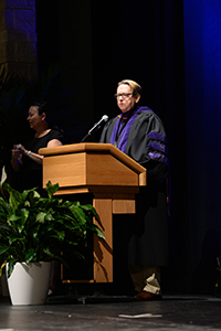 President John Delaney delivers his 2016 Convocation ceremony address Convocation address