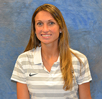 UNF's new head tennis coach Mariana Cobra pictured in portrait photo