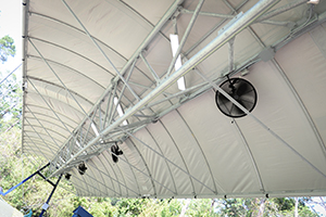 Golf Canopy Fans and Lights