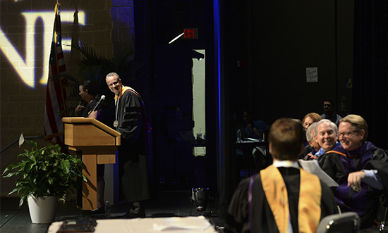 Faculty awards at fall 2016 convocation