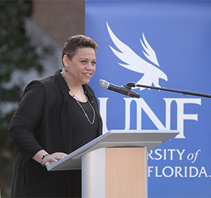 UNF doctoral nursing student Catherine Riley