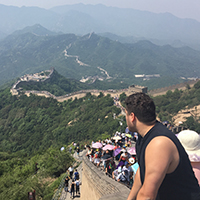 UNF Student on the Great Wall of China
