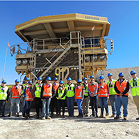 UNF students on a study abroad in Chile learn about the mining industry.
